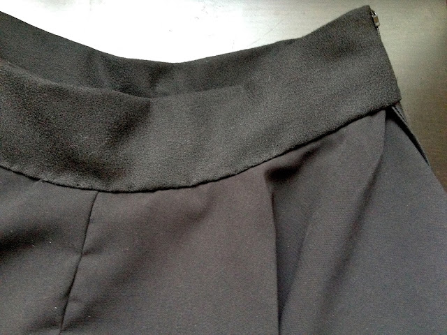 Diary of a Chainstitcher Black Wool Crepe Megan Nielsen Tania Culottes Sewing Pattern