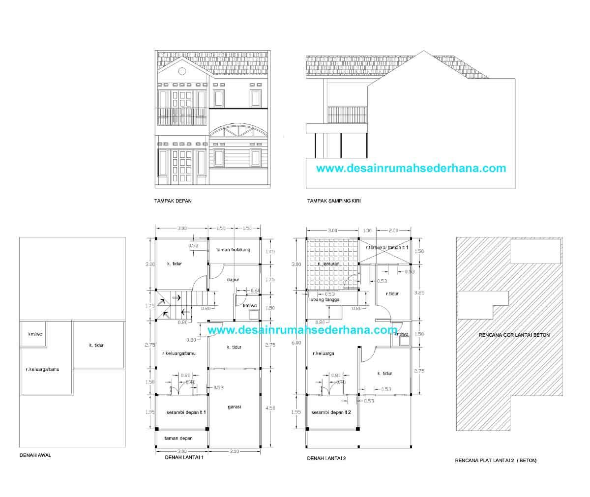 Renovasi Rumah KPR BTN Type 21 72 Posisi Di Tengah Desain Rumah