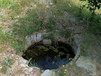 El dipòsit per preparar el sulfat de coure a la zona dels Avellaners de l'Onclet