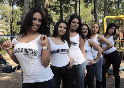 lindas aeromozas de mexicana en calendario