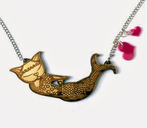 Merkitty Wooden Necklace by Miss Ella