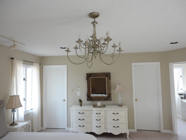 The Above Picture Is From First Set Of Renovations I Did To Our Master Bedroom Found That Giant Chandelier Also Originally Brass And Decided