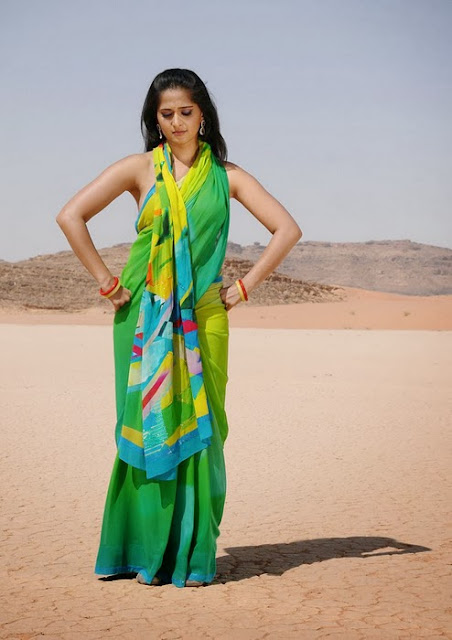 Anushka In Green Saree