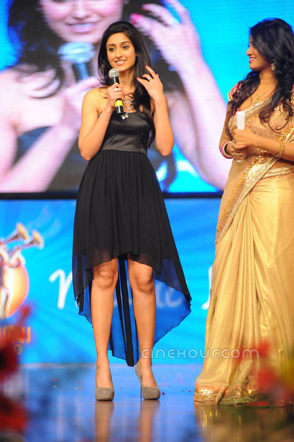 Ileana in Black Hot Dress1 - Ileana Stills at Snehitudu Movie Audio Launch