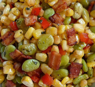 succatash with bacon and vinegar