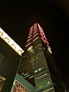Night time Taipei 101 Taiwan