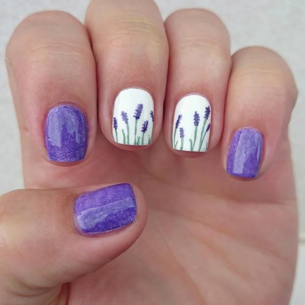 dahlia nails lovely lavender