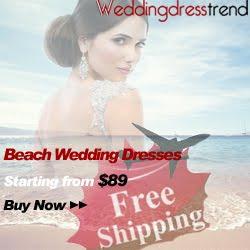 Buy beach wedding dresses free shipping from 'weddingdresstrend.com'