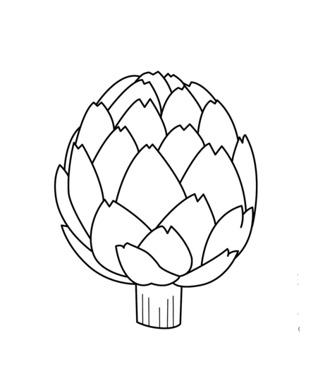 Artichoke vegetables coloring pages for kids