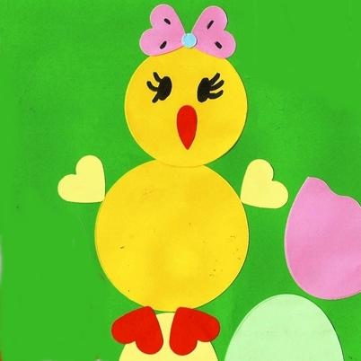 Studiamando liberamente decorazioni pasquali pulcini su uova di carta - Decorazioni pasquali bambini ...