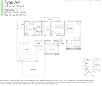 Bliss @ Kovan 3 Bedroom Floor Plans