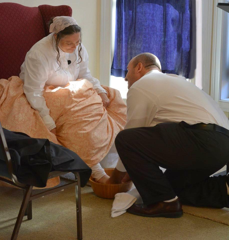 My Beloved washing my feet during our wedding