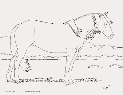 Free printable mustang horse coloring pages for Mustang horse coloring pages printable