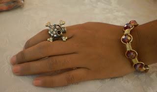 rhinestone skull ring