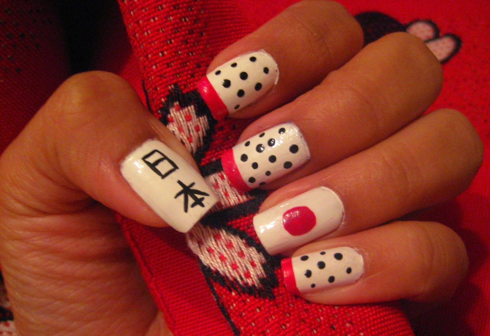 5 Finger Discount: Cute Holiday Nail Art on a budget: Japan Nail Art