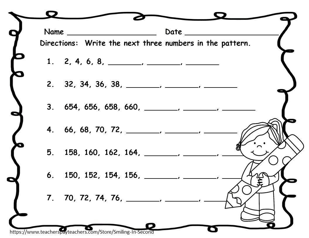 Skip counting by 2s worksheets first grade