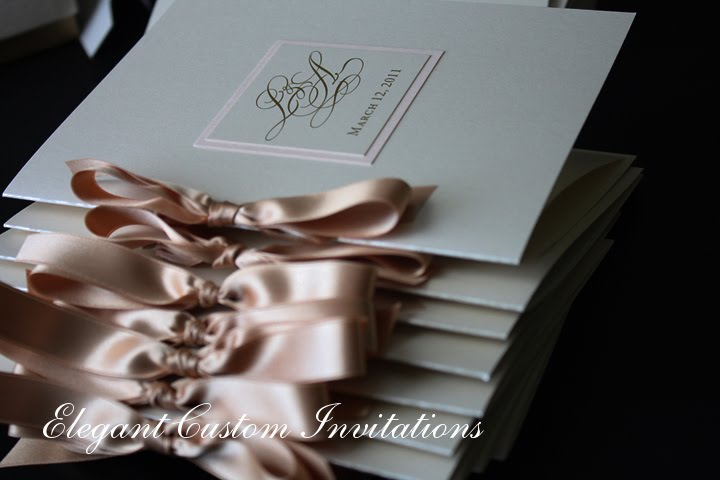 The programs were booklet style with their monogram carried through from the