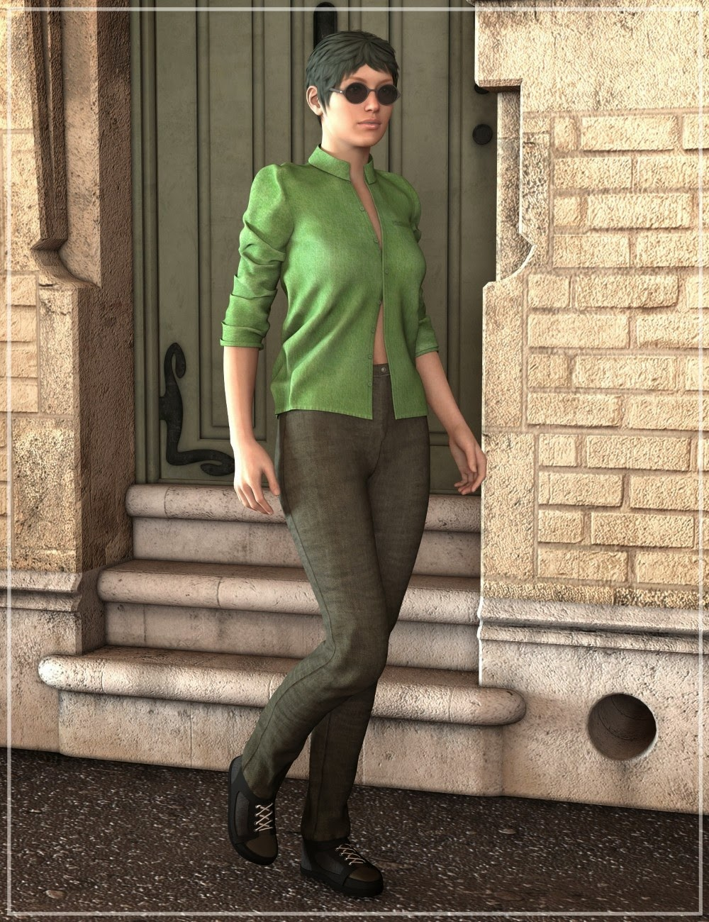 3d Models - LNA Basic Wear Ibiza Outfit, Casual Streetwear for Genesis 2 Female(s) and TOA Divine