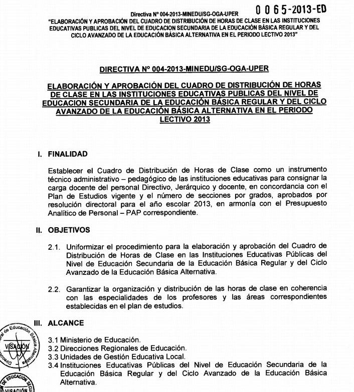 ResoluciónDirectoral Regional N° 0189-2013, presidida por la ...