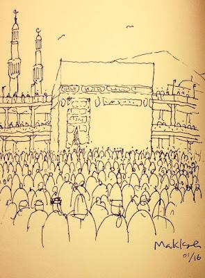 Sketsa Makkah dan Madinah Karya Ridwan Kamil 3