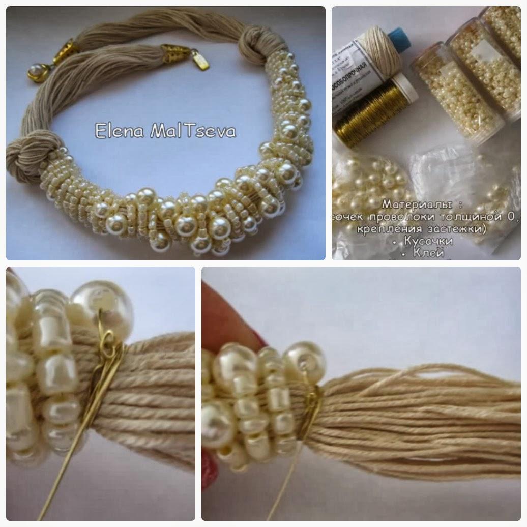 Como hacer una gargantilla o pulsera pelusa del alamo - Bisuteria para hacer en casa ...