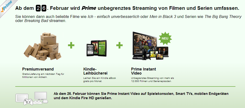 Amazon Prime Instant Video Promotion