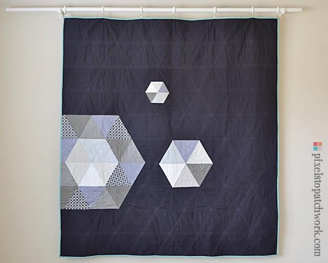 patchwork prism quilt back