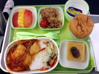 エバー航空での機内食