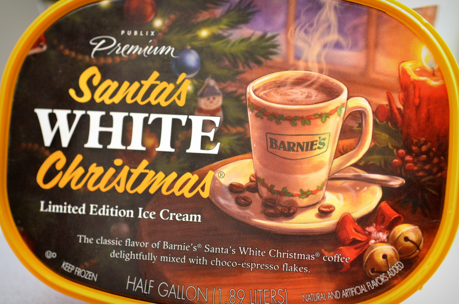 food and ice cream recipes: REVIEW: Publix Premium Santa's White ...