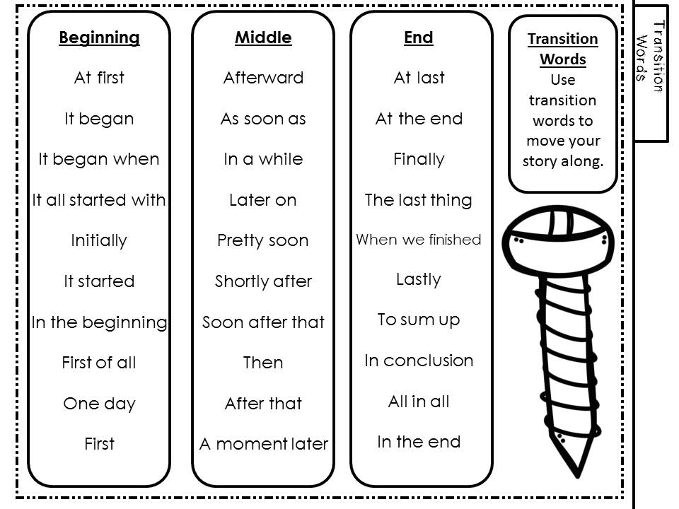 Sat essay transition words