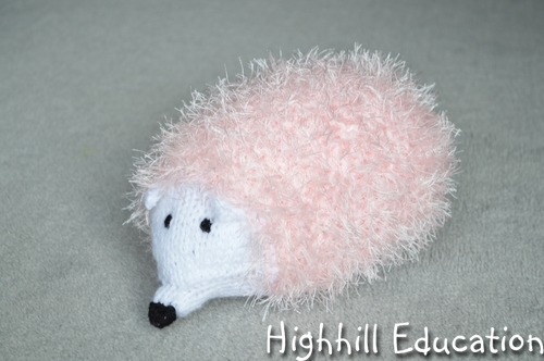 Stuffed Hedgehog Knitting Pattern : Highhill Homeschool: Knit Hedgehog
