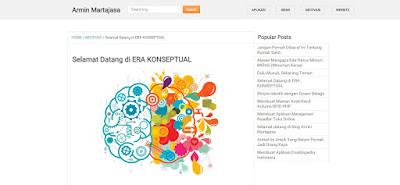 Blogspot Admin Template PC Screenshot
