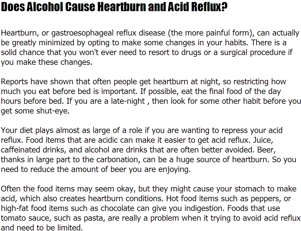 Can Drinking Too Much Alcohol Cause Heartburn