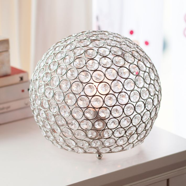 copy cat chic horchow bosley crystal ball lamp. Black Bedroom Furniture Sets. Home Design Ideas