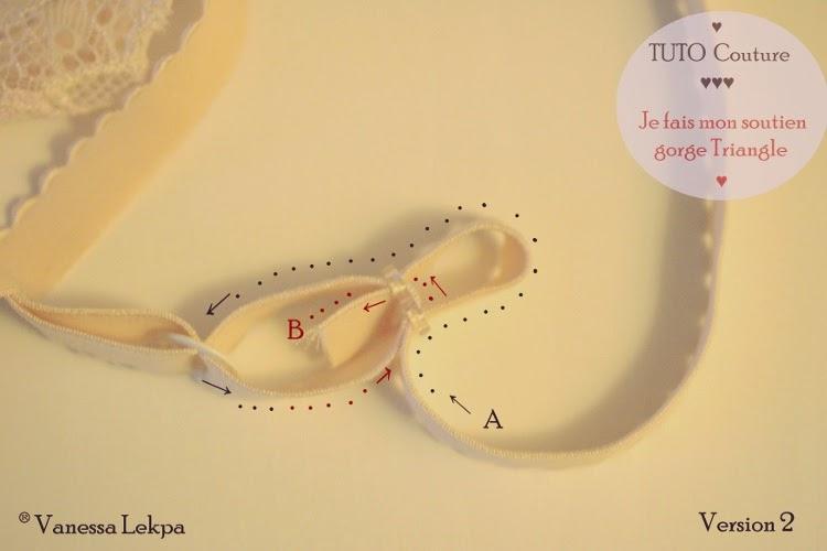explication et schéma pour réaliser des bretelles de soutien gorge réglables . patron de couture jefaismesdessous et Vanessa Lekpa