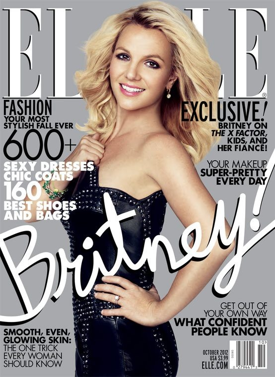 Elle October 2012 cover Britney Spears english fashion magazine scans