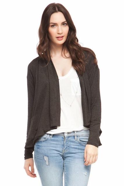Kensie Grey Cardigan Fashion Beyond Forty