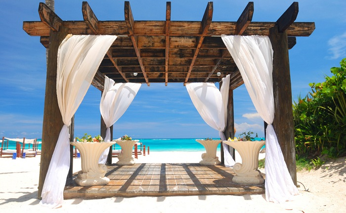 Wedding Pergolas On The Beach 01