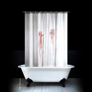 krwawa zasłona prysznicowa