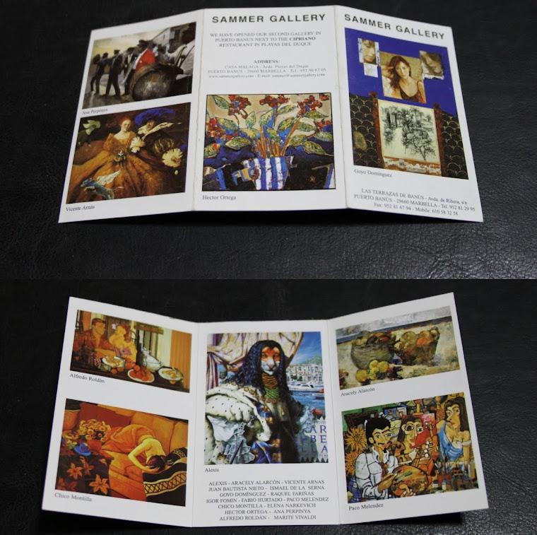 TARJETA DE PUBLICIDAD DE LA SAMMER GALLERY.