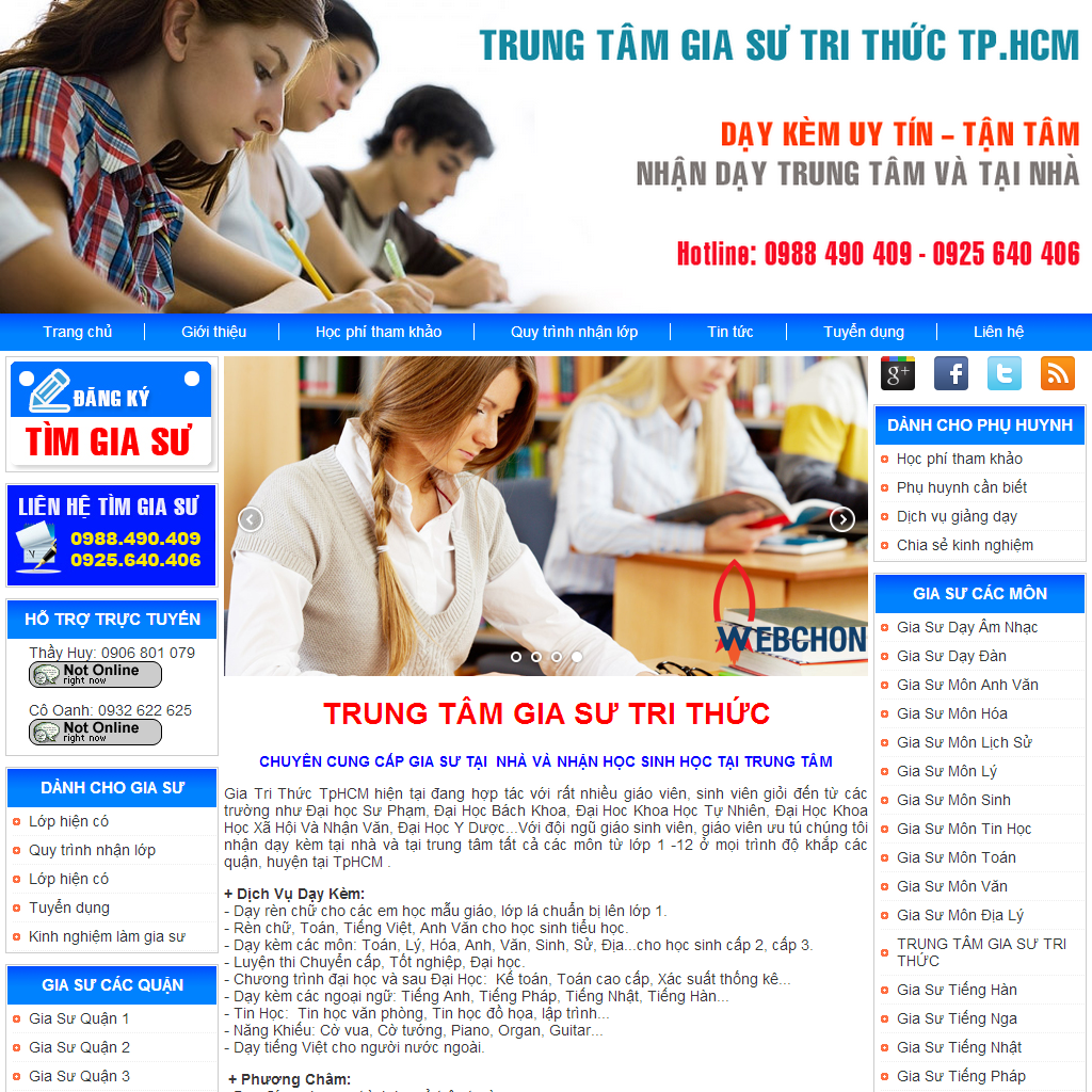 thiet ke website bang wordpress, thiet ke website gia su