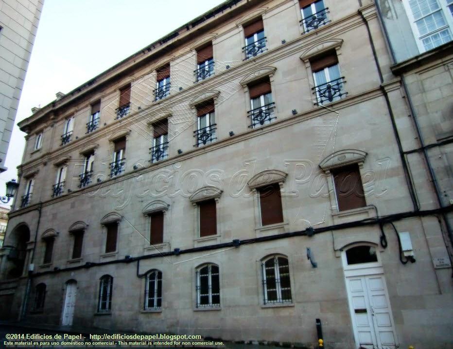 Ayuntamiento de Ourense  Arquitecto Queralt 1888  vista lateral
