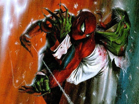 Spider-Man Vs Lizard Full Color