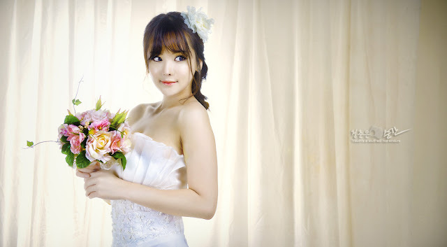 1 Im Ji Hye in Wedding Dress - very cute asian girl - girlcute4u.blogspot.com