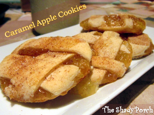 Caramel Apple Pie Cookies #recipe #cookies #apples #dessert