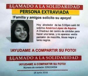 Solicitamos el apoyo de la ciudadanía para encontrar a esta joven que se encuentra desaparecida