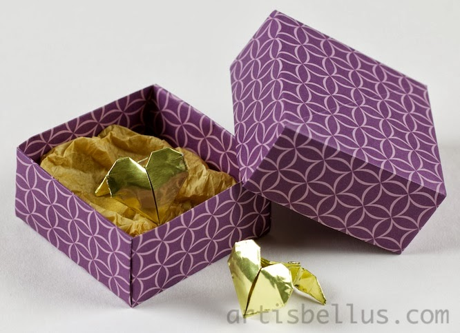Valentine's Day Origami: Heart Cufflinks