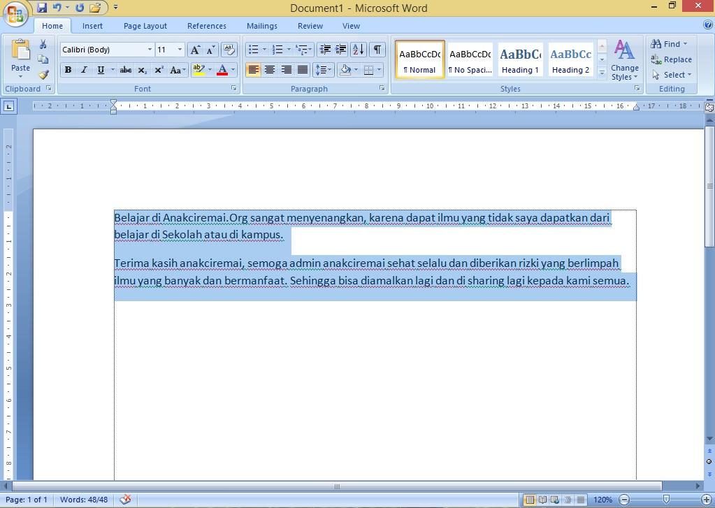 Copy paste paragrap dari word ke excel anakciremai