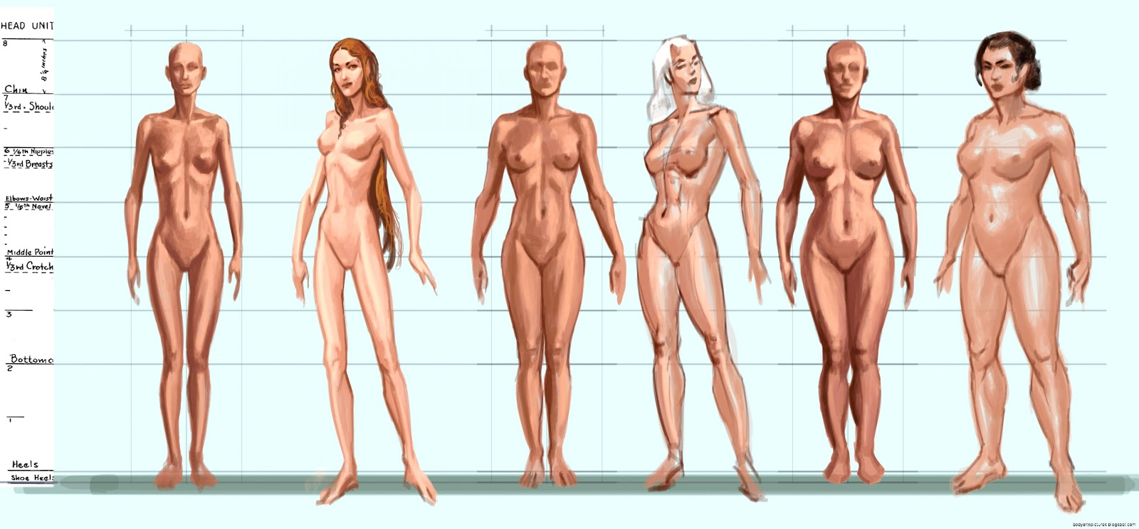 Body Types Female  Video Games Artwork