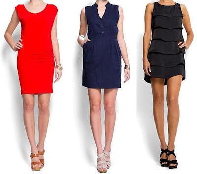 vestidos cortos y elegantes mango 2012